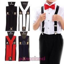 Bretelle bimbo bimba bambini straccali suspenders regolabili elastiche BR-15