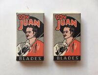 SET OF 2 BOXES VINTAGE DON JUAN RAZOR BLADES