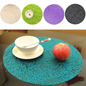 38CM Circle Coasters Crystal Dining Table Mat Non-slip Insulation Plate Placemat