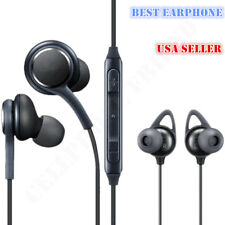 Black Braided Wired Earphones Headset Hands free For Samsung Galaxy S9 S8 Note 8