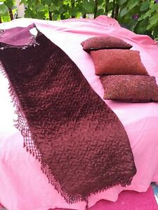 Beaded Velvet Throw With Beaded Pillows