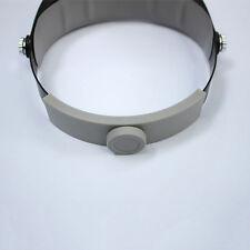 LED Head Lamp Visor Jeweler Magnifier Lighting Magnifying Glass Loupes Headband