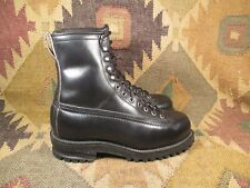 Vintage Black Leather Insulated Monkey Boot size 6D made in Usa