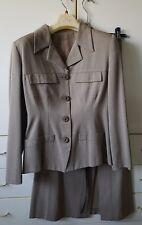 Tailleur donna giacca e gonna lunga tessuto tweed spigato - Tg XS