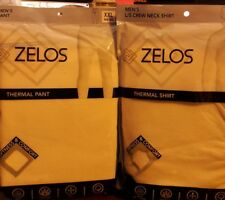 Zelos Men's Thermal Shirt & Pants Size XXL (44-46) Natural