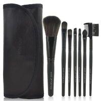 Black Set Kit 7 Makeup Blush Eyeshadow Lip Foundation Powder Cosmetic Brush