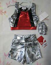 New Sports Bra Top Shorts Set Size 4 SC Child Dance Gymnastics Leotard Capezio