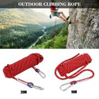 10-20M Red Outdoor Climbing Rope Rock Climbing Equipment Rope Rescue
