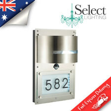 Strada Exterior Wall Light Street Number Display 304 Stainless Steel Ip44 LED