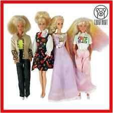 Barbie Bundle Mattel 4x Dolls Sleeping Beauty Spice Girls Lot Vintage Dressed
