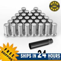 32 Lug Nuts 9/16-18 Chrome 7 Spline Locking for Dodge Ram 1500 2500 3500 Trucks