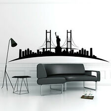 01070 Wall Stickers Sticker Adesivi Murali New York Skyline 2 120x38cm