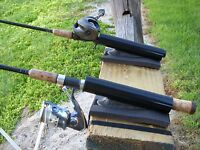 NEW PIER / DOCK FISHING ROD / POLE HOLDER  ANGLED WITH SAFETY STRAP