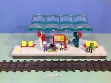 (O4382.6) playmobil Grand quai de gare ref 4382 bte cplt 4010 4011 4016 4017