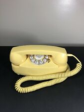 Retro Princess Phone Mustard Yellow CR59 Crosley 2003 Tested Works Rare Color