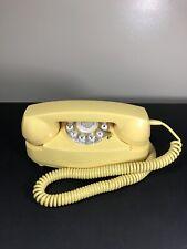 Retro Princess Phone Mustard Yellow CR59 Crosley 2003 Tested Works Rare Color