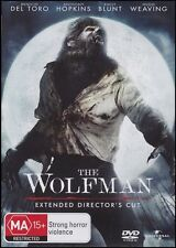 The WOLFMAN (Anthony HOPKINS Benicio DEL TORO Emily BLUNT) HORROR Film DVD