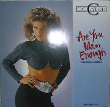"""Vinyl MAXI 12""""  C. C. CATCH ARE YOU MAN ENOUGH  DIETER BOHLEN VG++"""