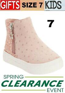 Wonder Nation Polka-Dot Sneaker Booties Pink (Toddler Girls) Size 7,8,9,10,11