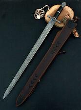 37.00 INCHES Damascus Steel Custom Handmade Micarta Handle Sword 2