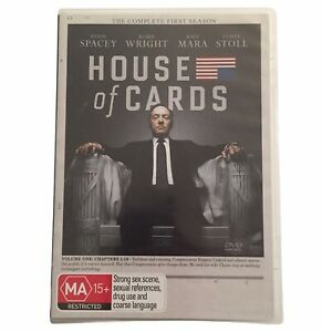 House Of Cards - Season 1 DVD R4 PAL MA15+ 2013 4-Disc Set - Kevin Spacey