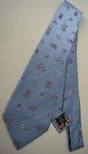 Paul Smith Baby Blue Floral Classic Tie Mainline 100 Silk Woven Made in Italy