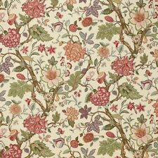 Laura Ashley LA1324 SOMERFIELD Jacobean Floral BAYBERRY Drapery Fabric Minimum 2