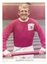 JOHN BARNWELL NOTTINGHAM FOREST 1963-1970 ORIGINAL HAND SIGNED PICTURE CUTTING