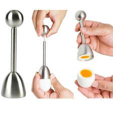 Stainless Steel Boiled Egg Topper Shell Cutter Knocker Opener Food Preparation