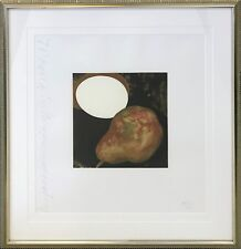 """DONALD SULTAN """"2 PEARS, A LEMON, AND AN EGG"""" 1994 