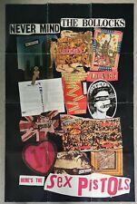 The Sex Pistols poster original 1977 Never Mind The Bollocks Here's no lp cd