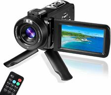 Digital Video Camera YouTube Vlogging Camcorder, HD 1080P 30FPS 24MP 16X Digital