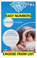 GOLD VIP Lebara Sim Card PayG Fancy EASY Good NUMBERS *Choose From Description*