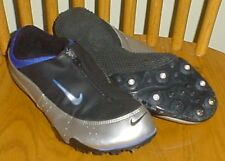 Men's Nike Zoom Rival Track & Field Shoes Size 8 Black & Silver Running Sprinter