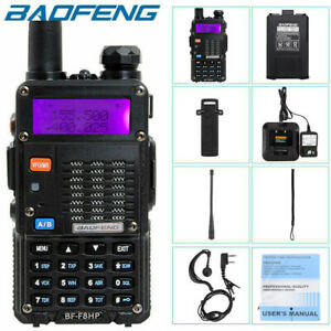 US BaoFeng BF-F8HP 8W TRI-POWER Two Way Ham Radio Walkie Talkie w/ Accessories