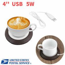 5W White Electric Powered Cup Warmer Pad Coffee Tea Milk Mug Heater w/ USB Cable