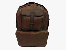 Leather Backpack 18 In Laptop Bag Rucksack Daypack Travel Shoulder Book Bag