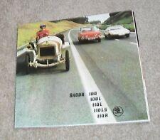 Skoda Brochure 1975 - 100 100L 110L 110LS 110R Coupe
