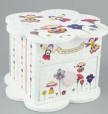 Floss & Rock Petal Fairy 1 Drawer Trinket Jewellery Box Girls With Mirror Gift