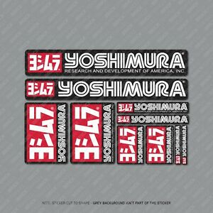 Yoshimura Stickers Motorcycle Decals Set A4 Sheet Of 10 Stickers - SKU2410