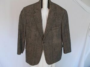 Brooks Brothers 42S Camel Hair Plaid Tweed Blazer Sport Coat Jacket