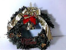 NATALE DECORAZIONE GHIRLANDA MERRY CHRISTMAS SONORA 30 CM DIAM.  FESTA NATALE