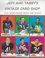 1969 TOPPS FOOTBALL SEE SCANS # 1 TO # 131
