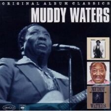 MUDDY WATERS - ORIGINAL ALBUM CLASSICS (HARD AGAIN,I'M READY,KING BEE) 3 CD NEU