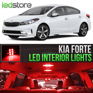 Red LED Lights Interior Kit Package Bulbs For 2010-2018 Kia Forte