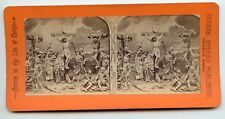 Life of Christ ~ French Stereoview  ~ Crucifixion ~ Original Photo