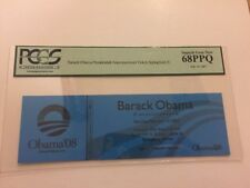 2007 Barack Obama Declares for President Announcement Ticket PCGS Superb Gem New