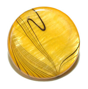 "3/4"" (20mm) YELLOW & BLACK STRIPED SHELL TIE PIN TACK (039)"