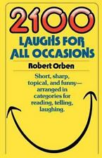 2100 Laughs for All Occasions by Robert Orben (copyright 1983, Paperback)
