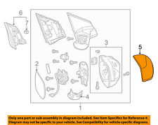 HONDA OEM 12-16 CR-V Outside Mirrors-Front Door-Outer Cover Right 76201T0AA11ZN